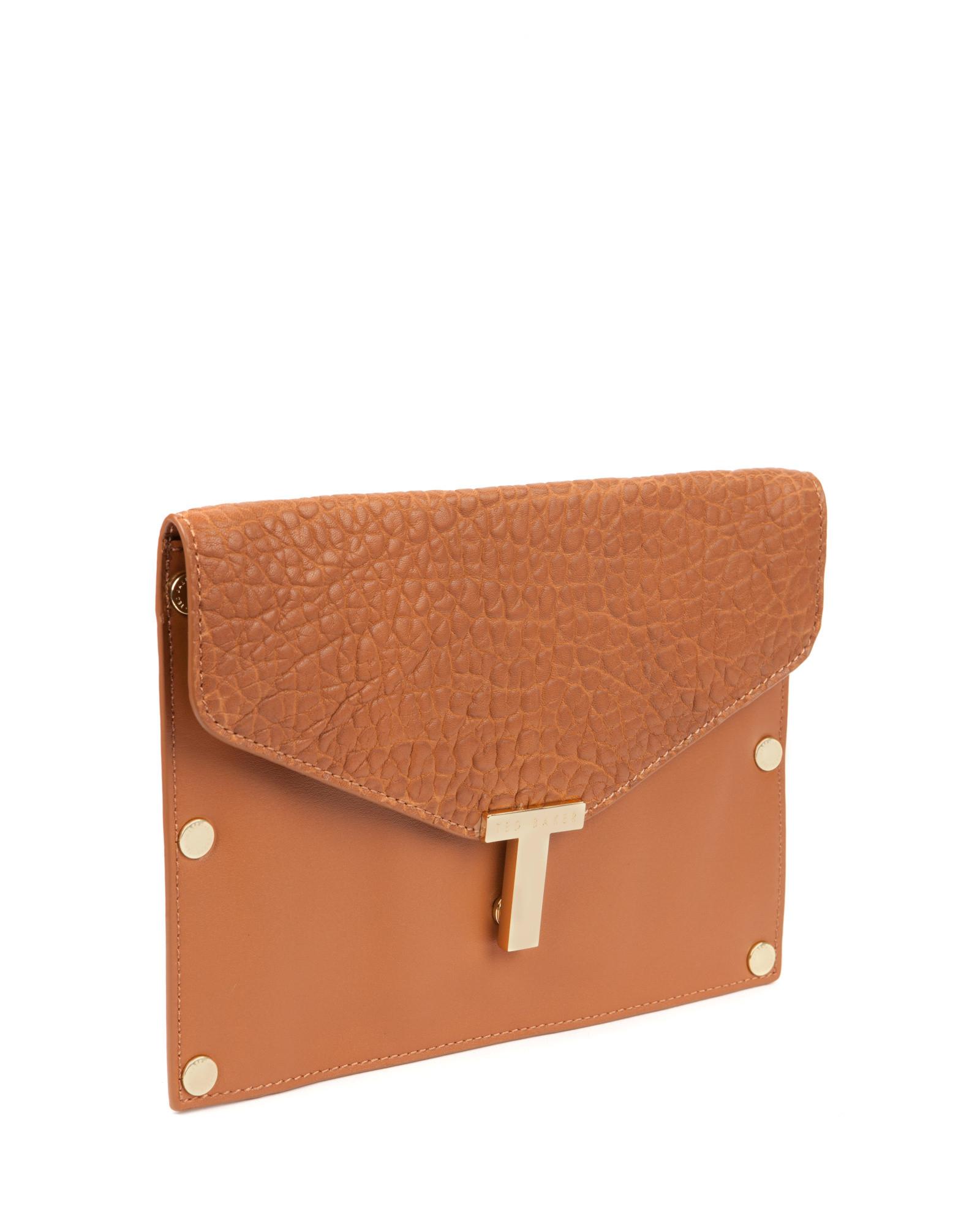 Yoki Croc Effect Clutch Bag With Detachable Strap - Grey Yoki Fashion UdFJYI1Luo