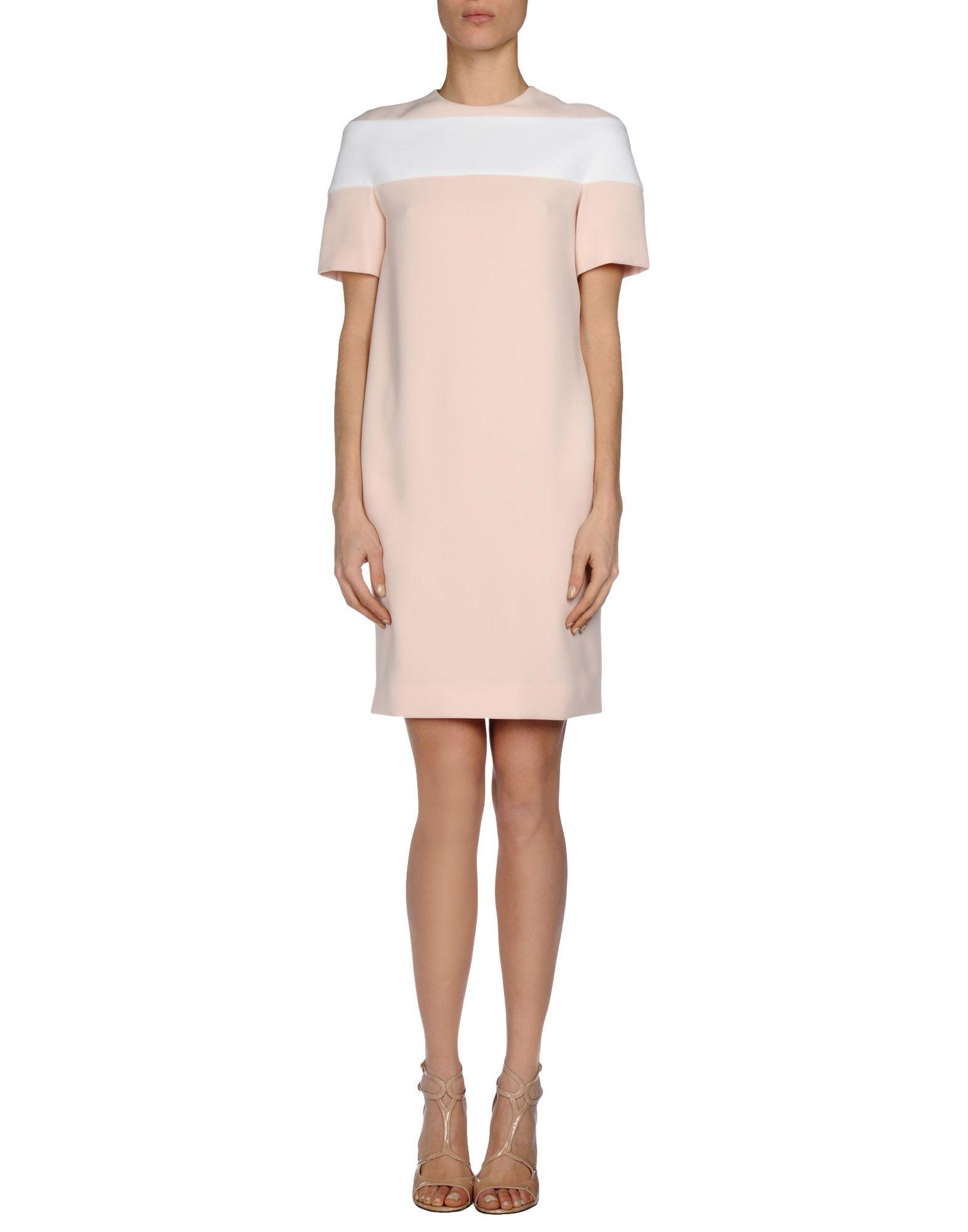 Balenciaga short dress in pink light pink lyst for Pastel pink dress shirt