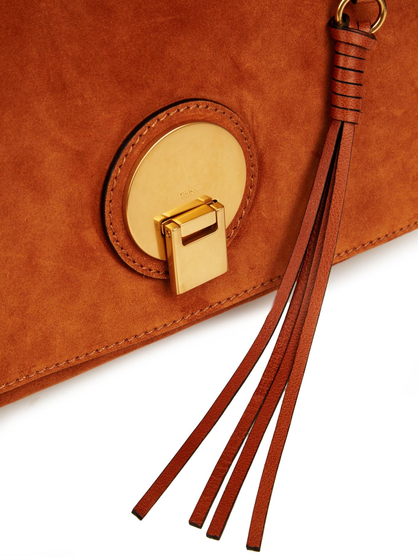 Chlo�� Indy Medium Leather Shoulder Bag in Brown (TAN) | Lyst