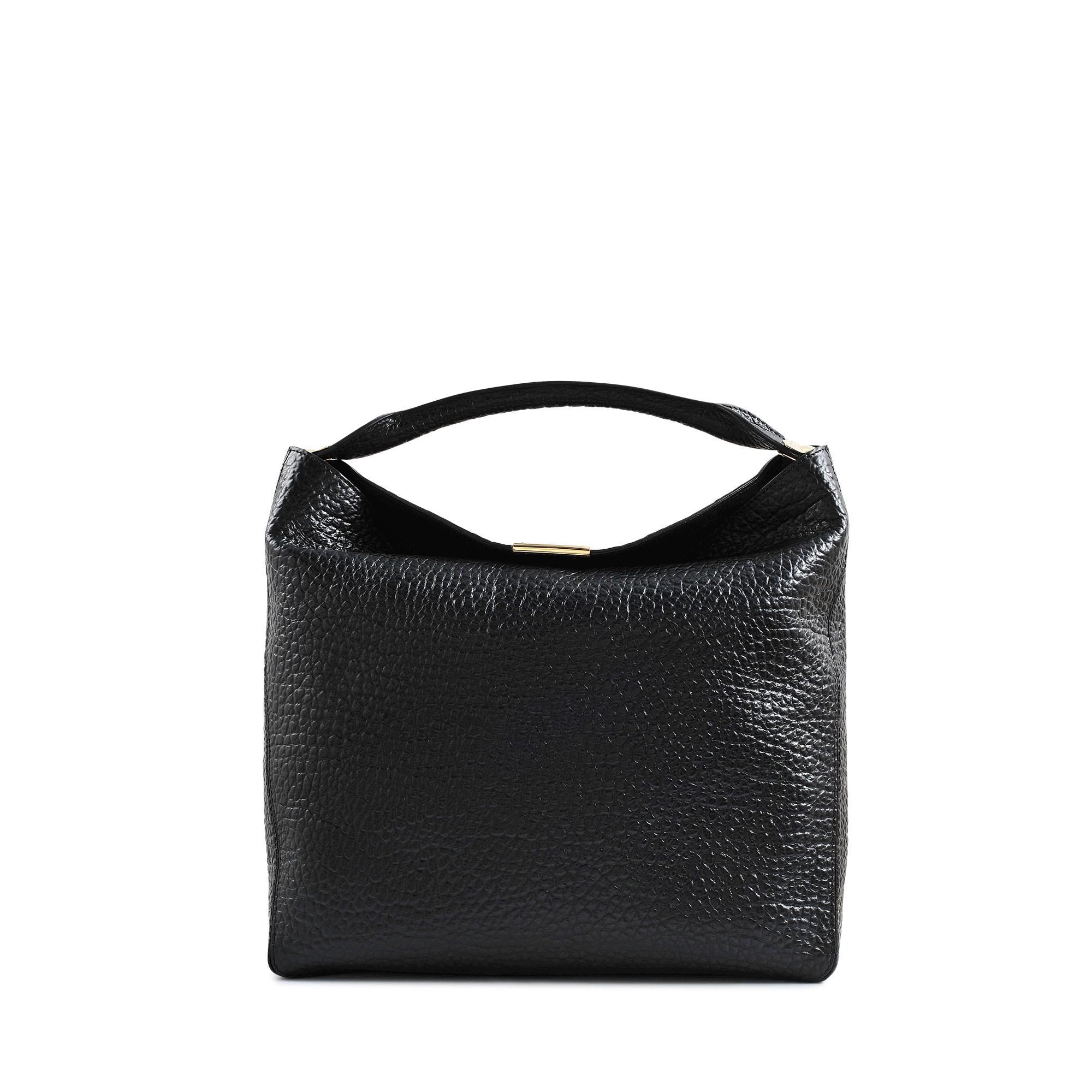 eef0d3909fbc Lyst - Burberry Hobo Lindburn Grain Heritage Bag in Black