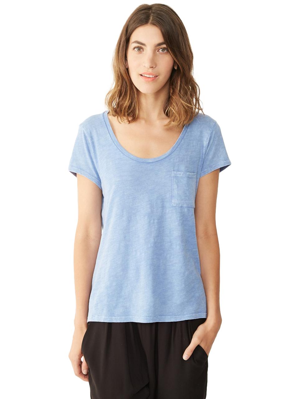 Lyst alternative apparel favorite slub t shirt 12412j1 for What is a slub shirt