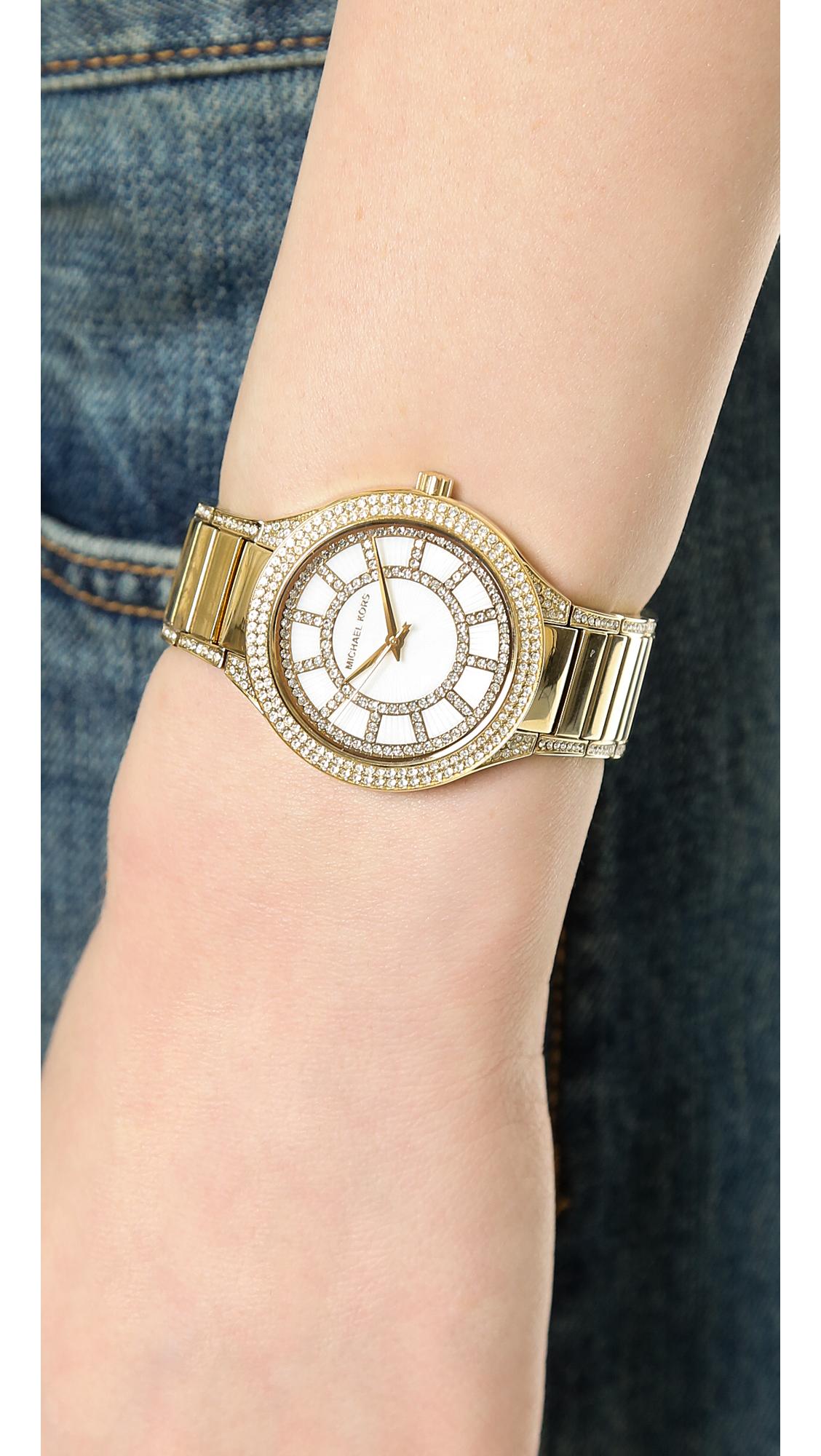 5886a03c9ece Michael Kors Kerry Watch - Gold in Metallic - Lyst