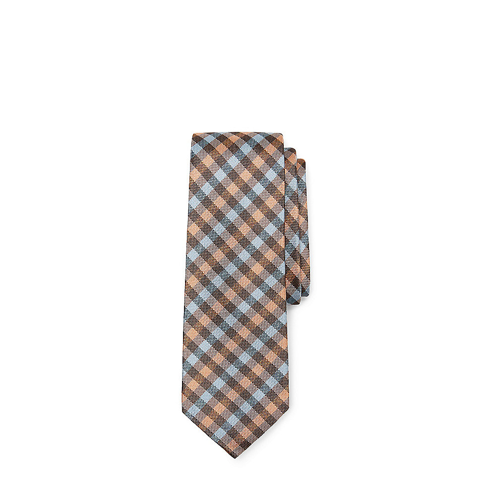 vince camuto pellico gingham silk tie in blue for lyst