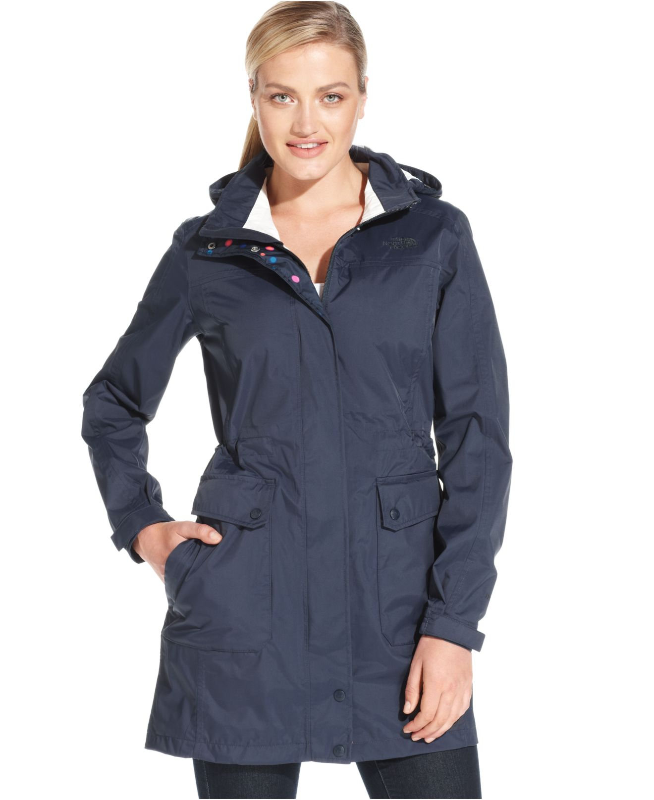 e5e9b9121d65 ... Lyst - The North Face Quiana Hooded Rain Jacket in Blue The North Face  Womens ...