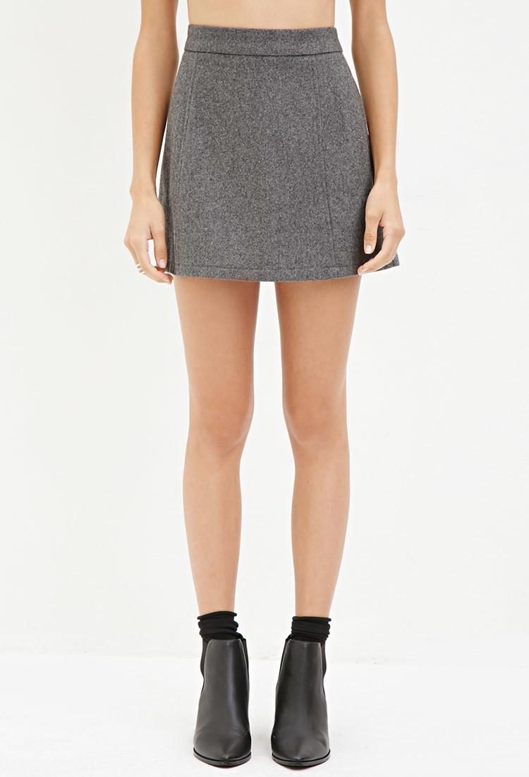 Grey Mini Skirt 60