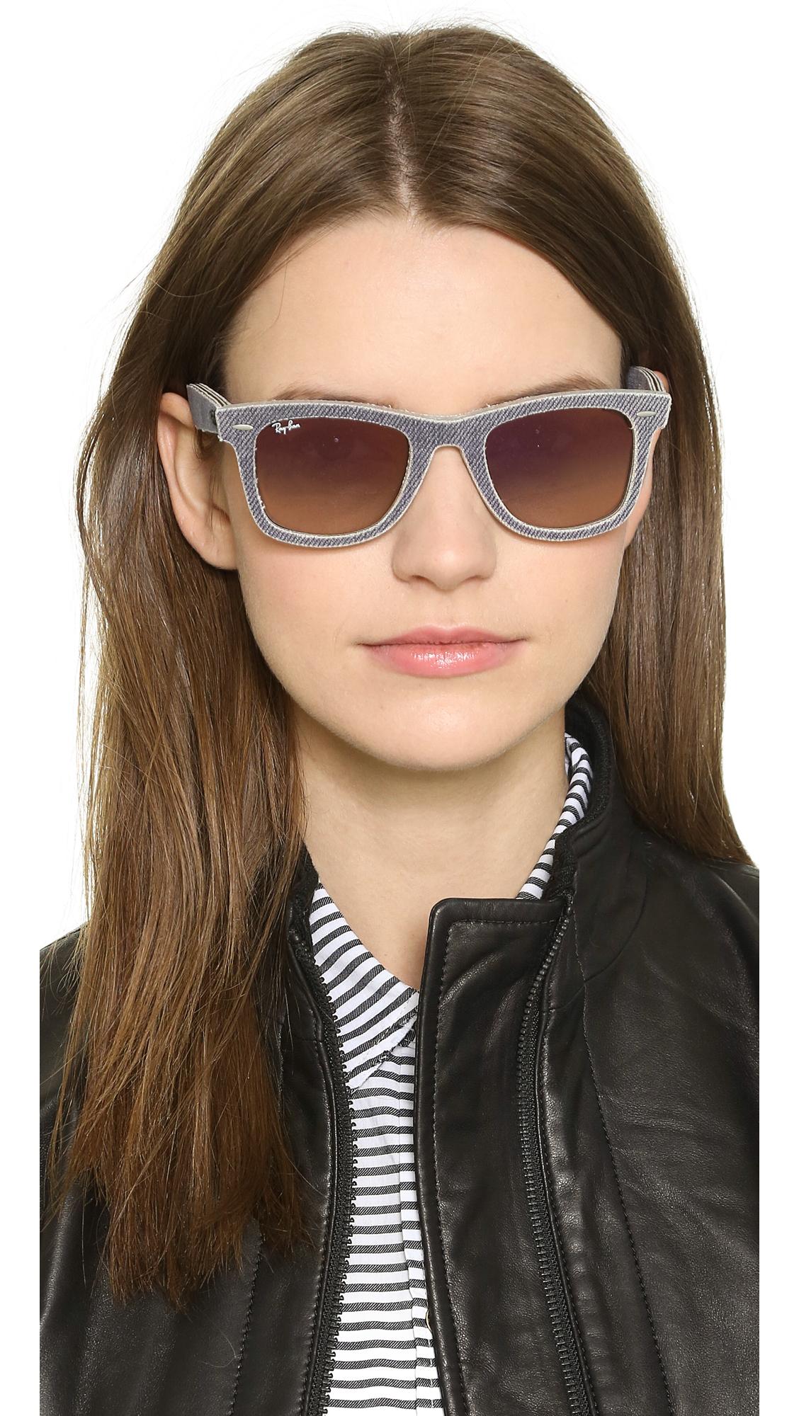197660f82c Lyst - Ray-Ban Denim Icon Wayfarer Sunglasses - Jean Grey Gradient ...