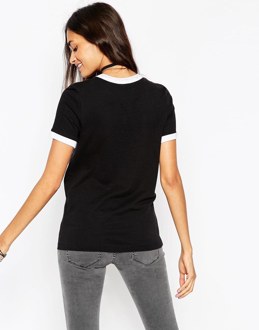 Lyst asos tipped t shirt in black for Asos design free t shirt