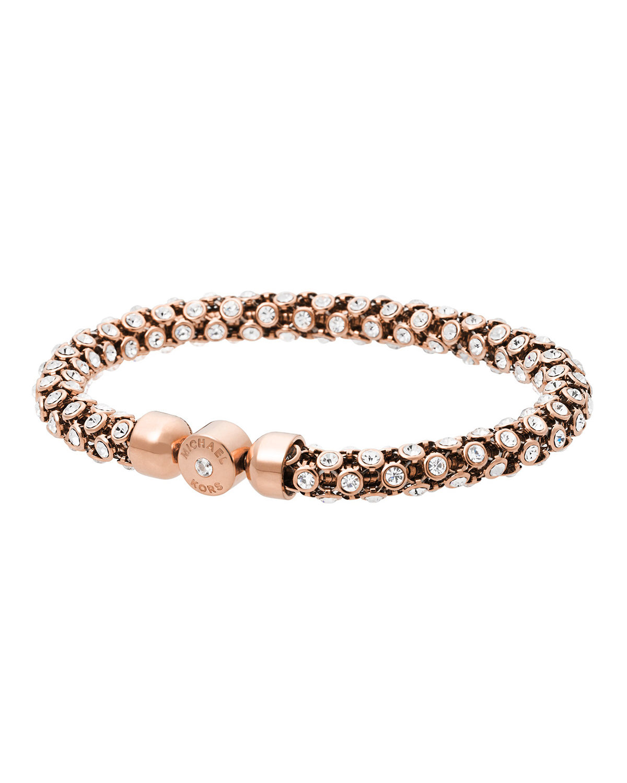 59a42cf7179a2b Michael Kors Park Avenue Crystal Magnet Bracelet in Pink - Lyst