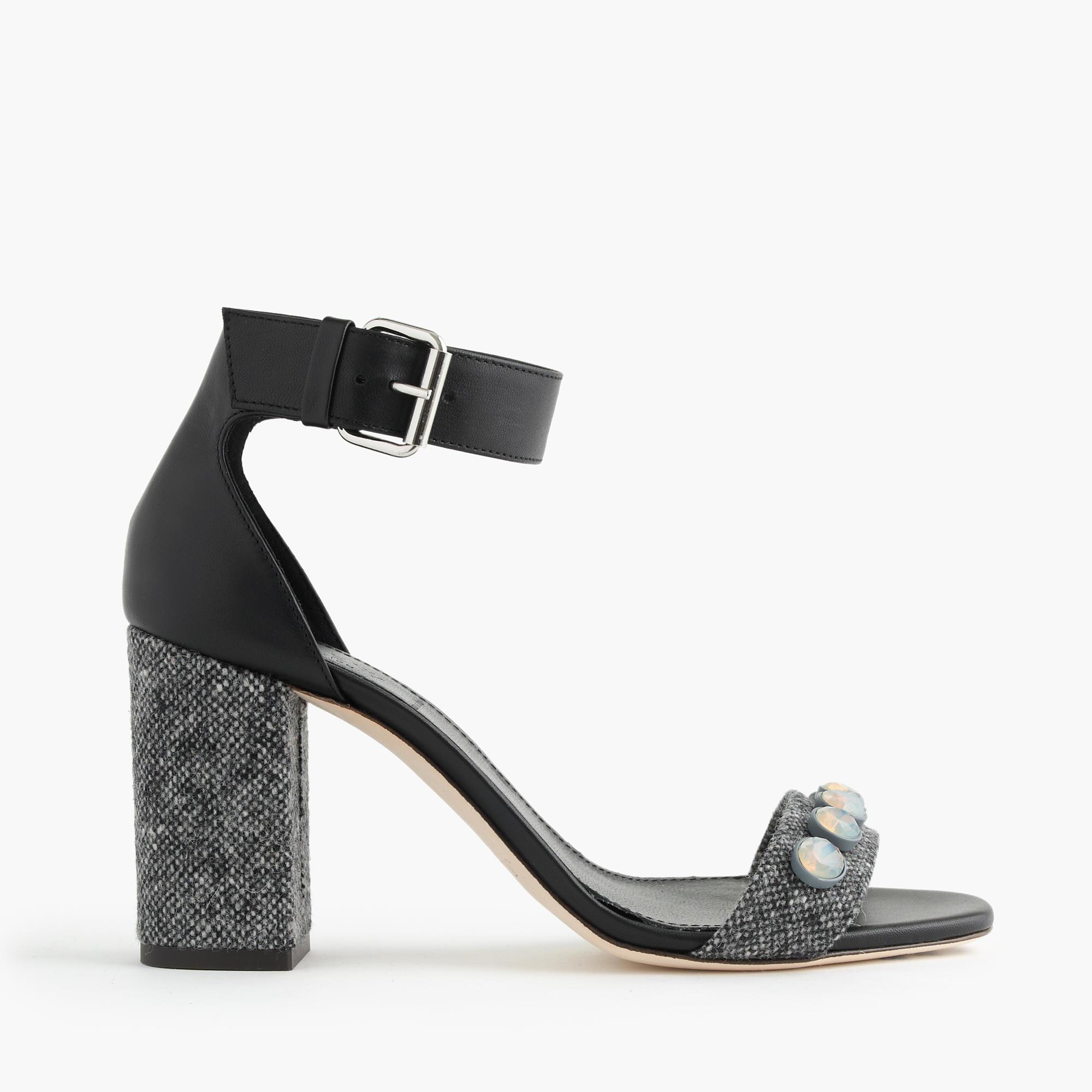 Strappy Black High Heel Sandals