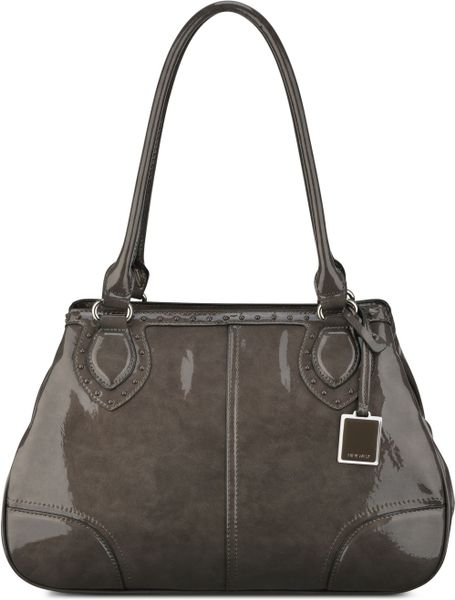 Nine West Show Stopper Medium Satchel in Gray (GRANITE GREY)