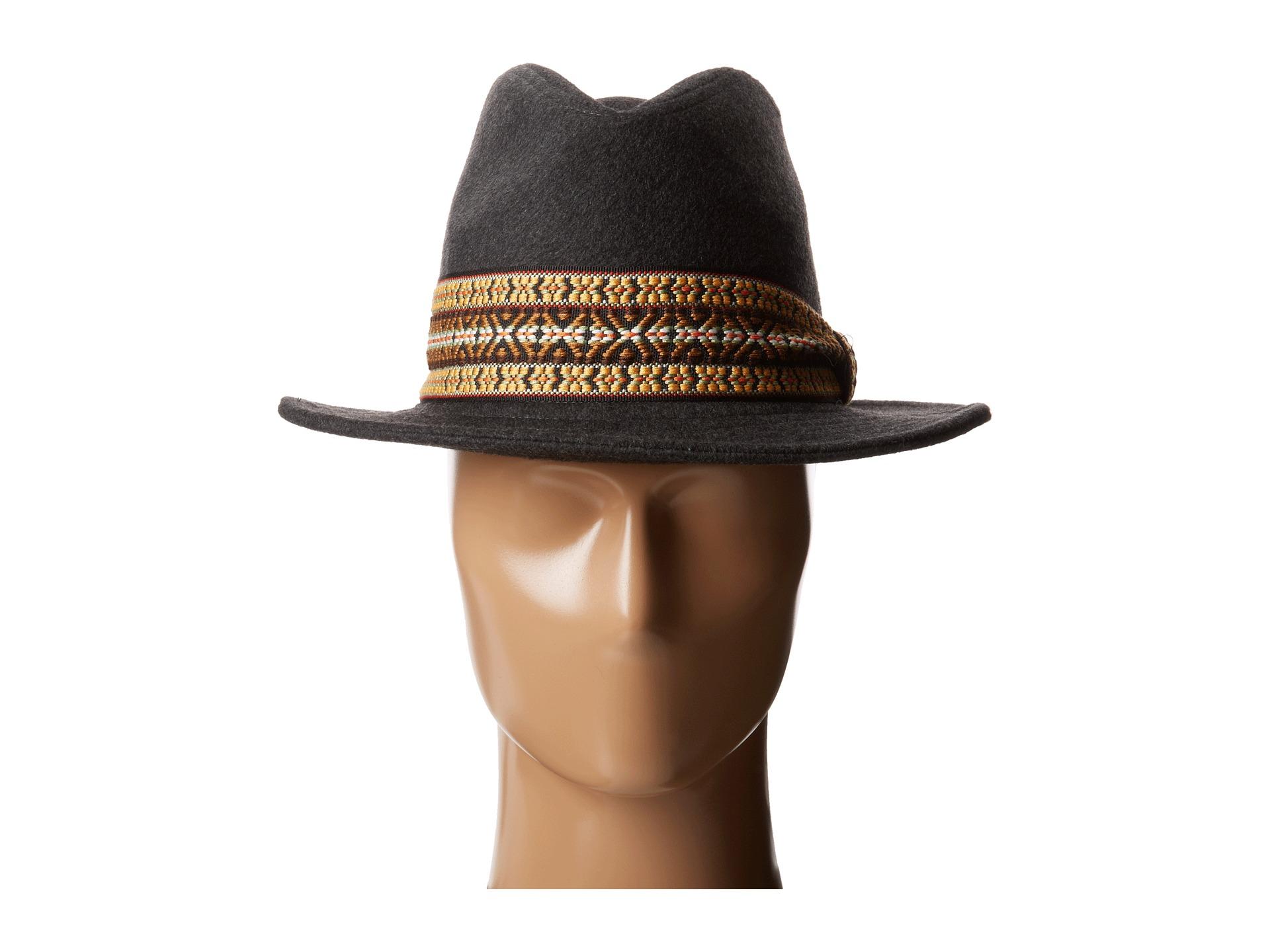 2ade613c052a9d San Diego Hat Company 2 Brim Felt Tall Crown Fedora W Jacquard Band ...