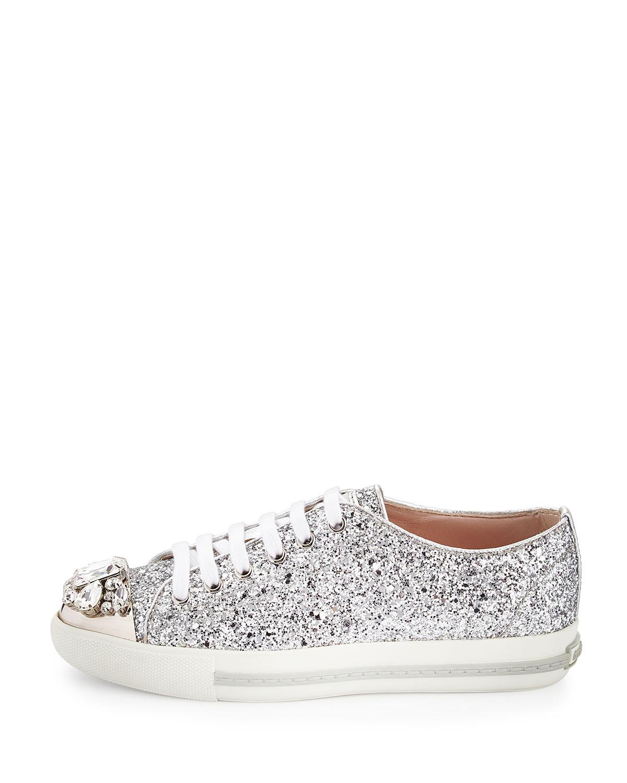 Womens Glitter Sneakers Miu Miu WN6ZFq8dG