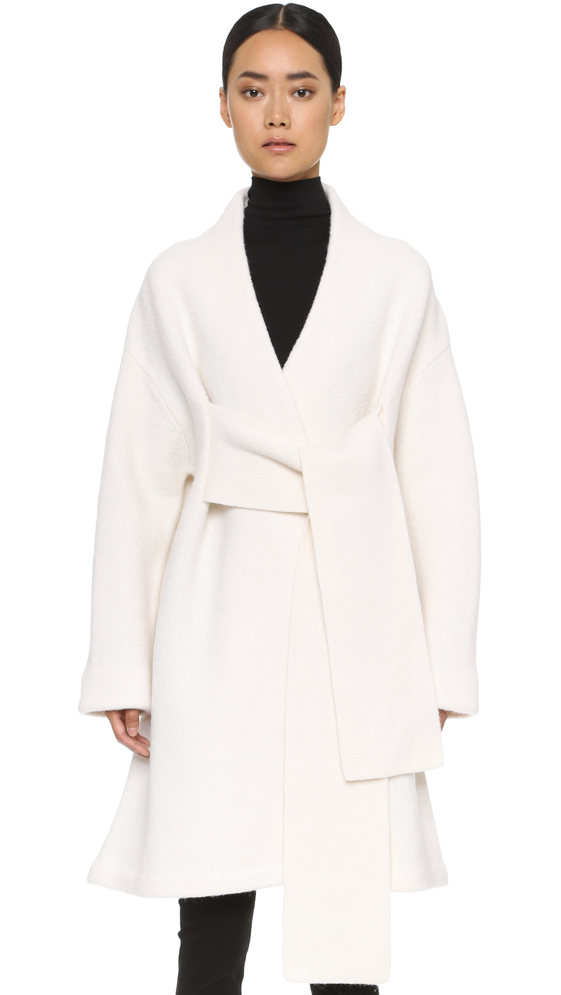 lyst acne studios hava sweater coat off white in white. Black Bedroom Furniture Sets. Home Design Ideas