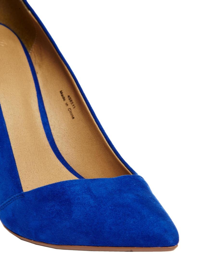 Lyst Asos Pensive Pointed High Heels In Blue