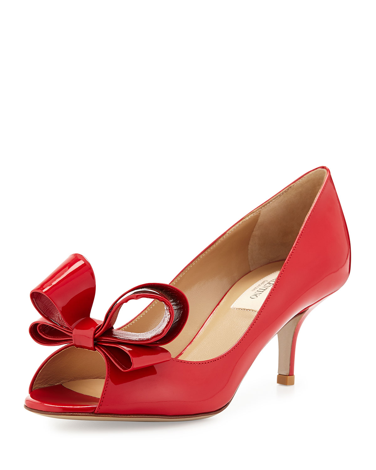 Low Heel Red Pumps - Qu Heel