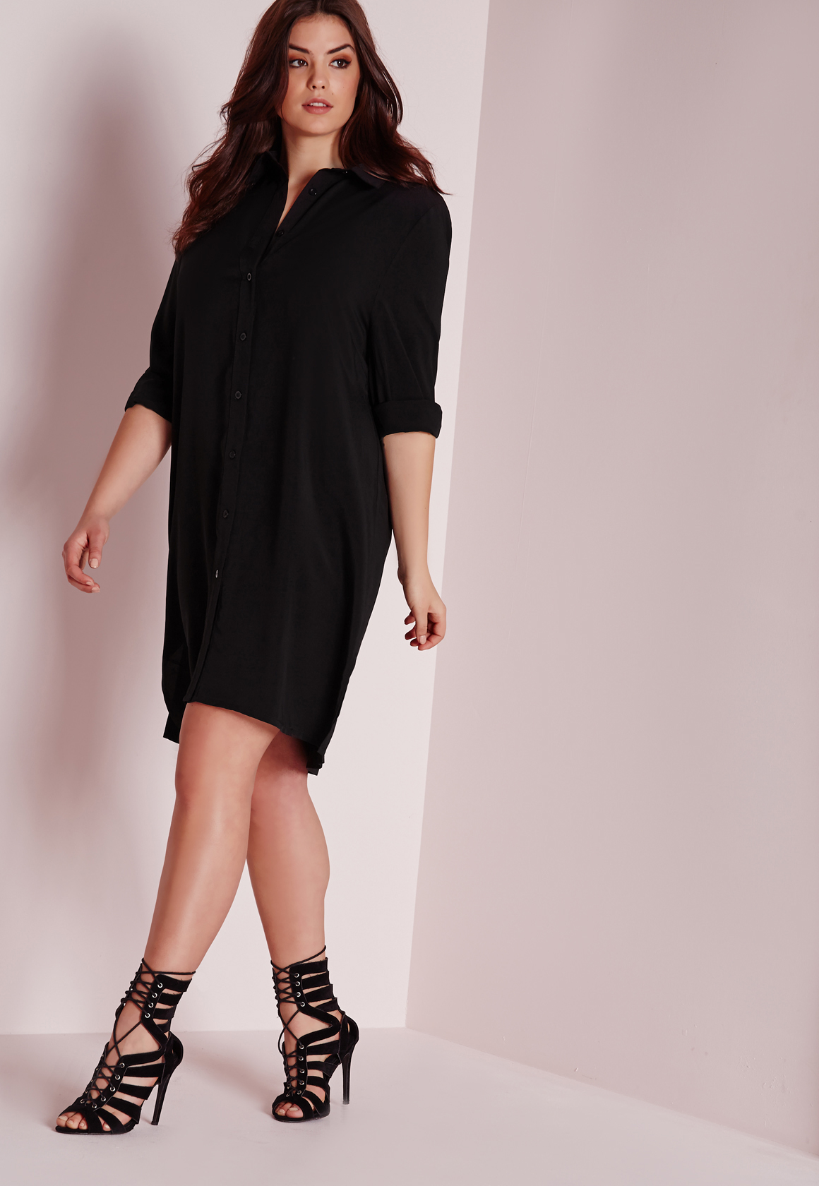 Long Black Shirt Dress Plus Size - raveitsafe