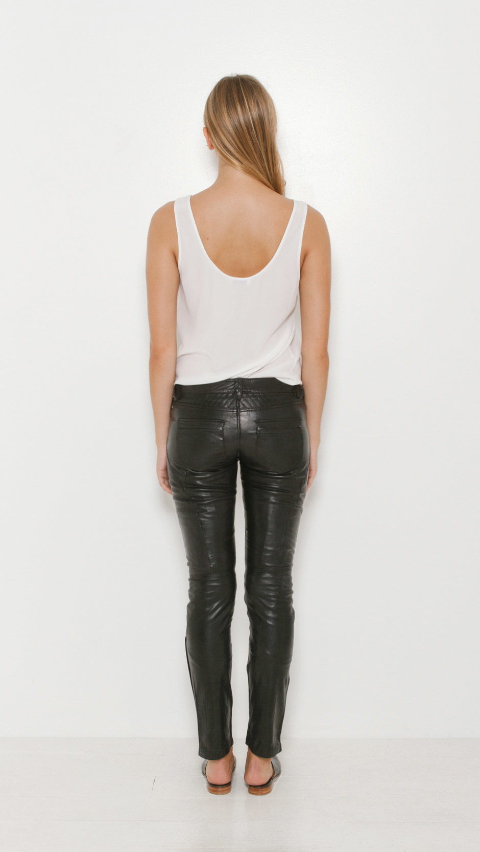 lyst zadig amp voltaire evrell deluxe leather pants in blue