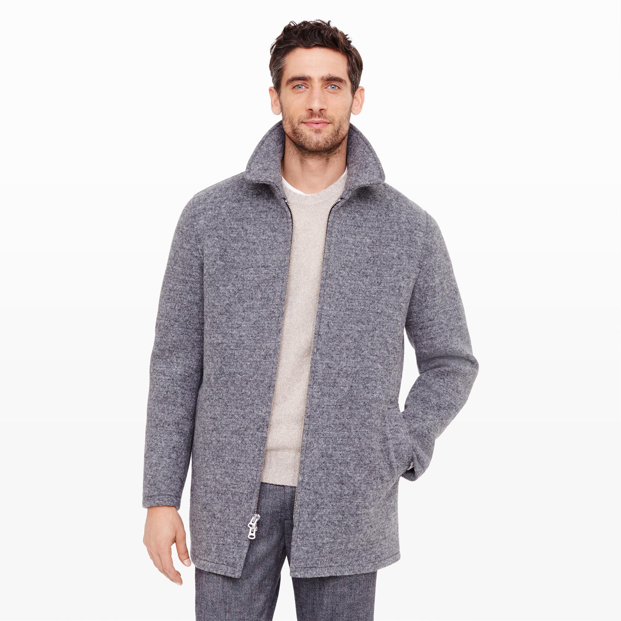 Club monaco Donegal Car Coat in Gray for Men | Lyst