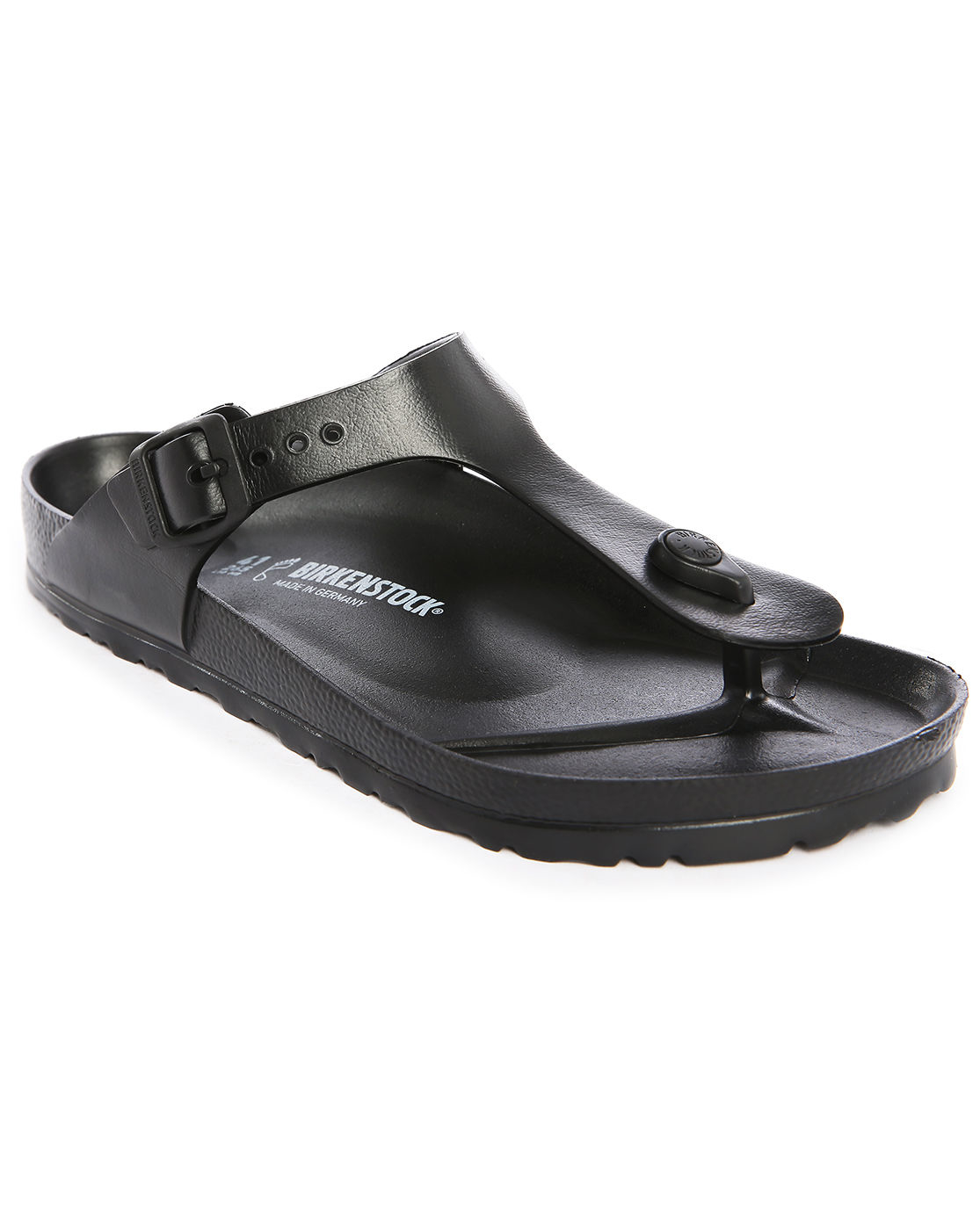 birkenstock eva gizeh black flip flops in black for men lyst. Black Bedroom Furniture Sets. Home Design Ideas