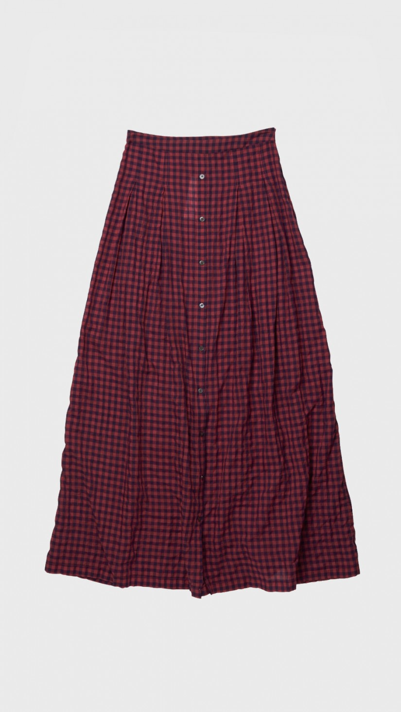 Tess Giberson Long Skirt W/ Placket in Red - Lyst