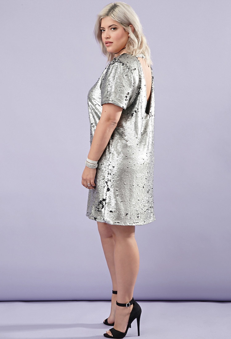08eb0f648c3 Lyst - Forever 21 Plus Size Sequin Shift Dress in Metallic