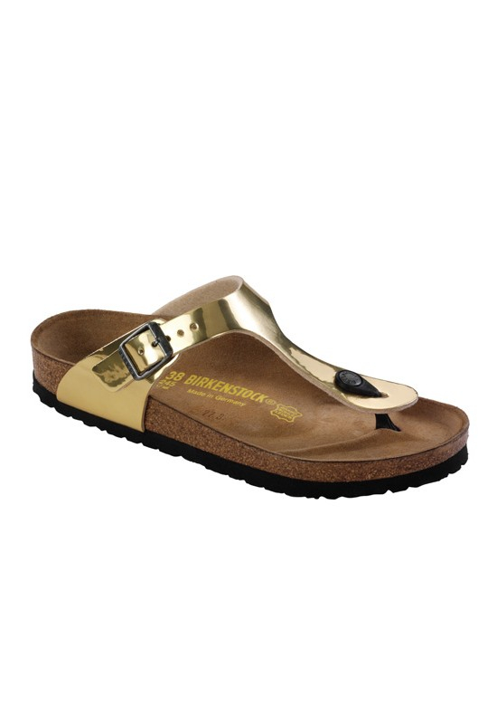 birkenstock gizeh sandal in gold gold steel lyst. Black Bedroom Furniture Sets. Home Design Ideas