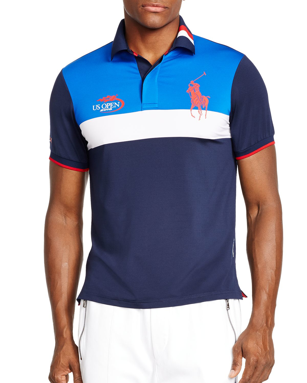 Lyst Ralph Lauren Polo Ball Boy Airflow Polo Shirt In Blue For Men