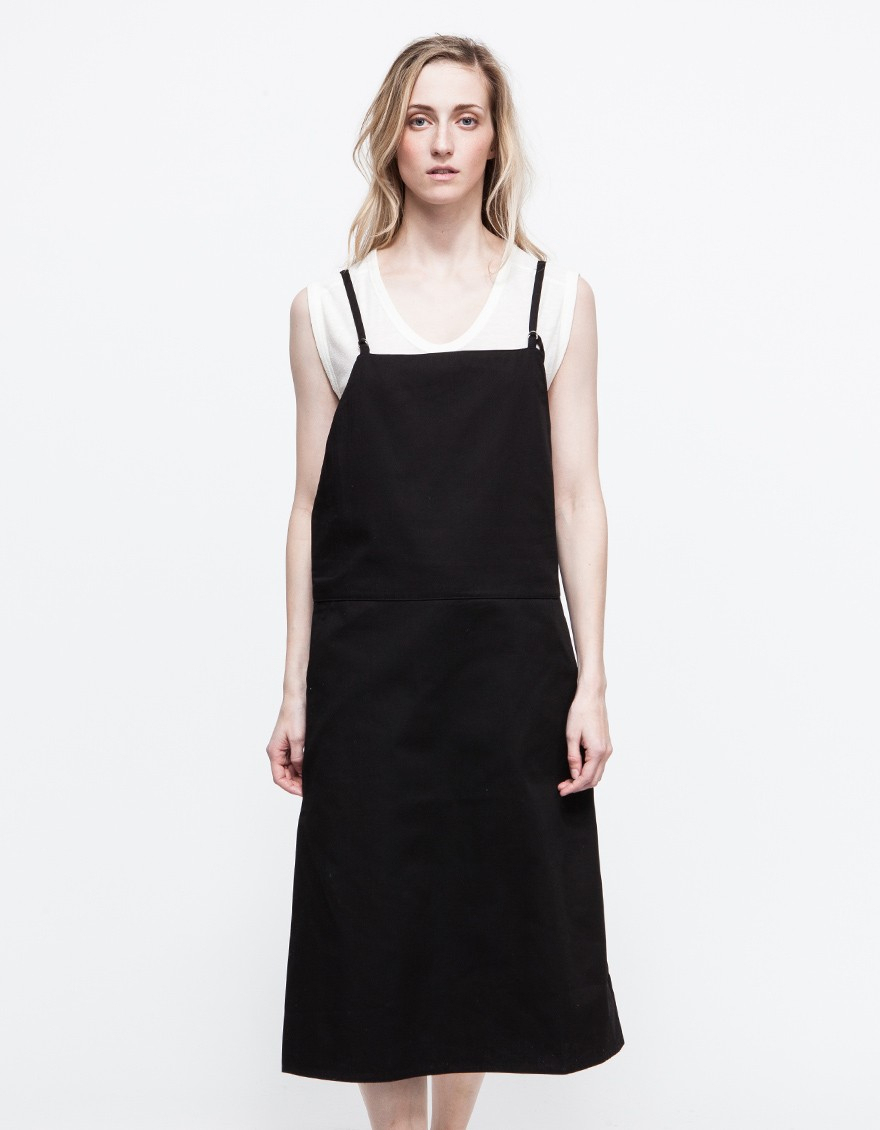 Black Overall Dress Baserange Strap Overal...