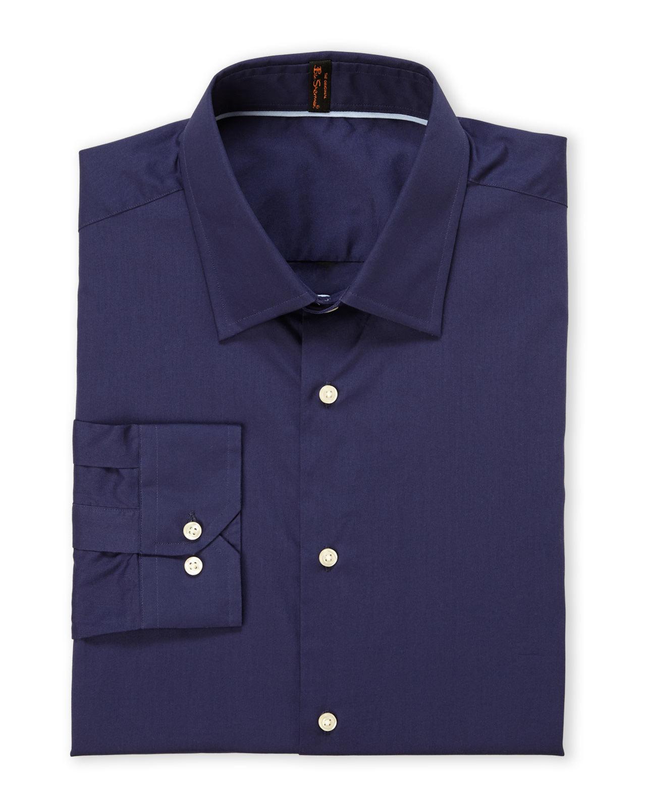 Lyst ben sherman navy camden super slim fit dress shirt for Super slim dress shirts