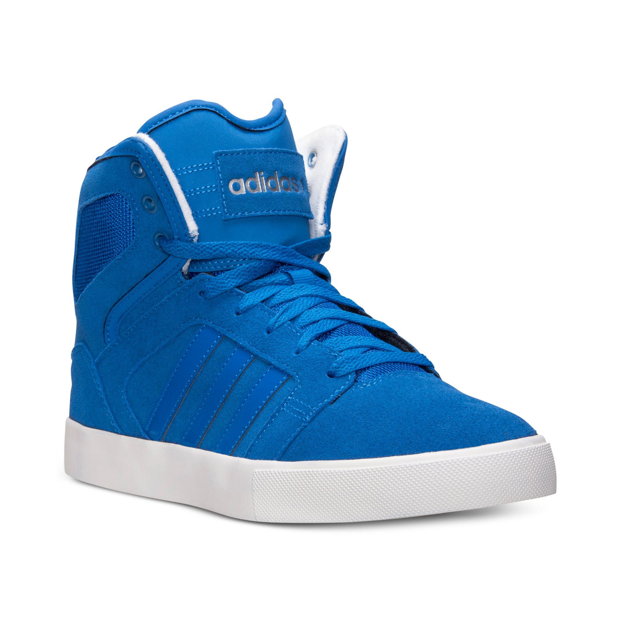 adidas men 39 s bbneo hi top casual sneakers from finish line in blue for men lyst. Black Bedroom Furniture Sets. Home Design Ideas