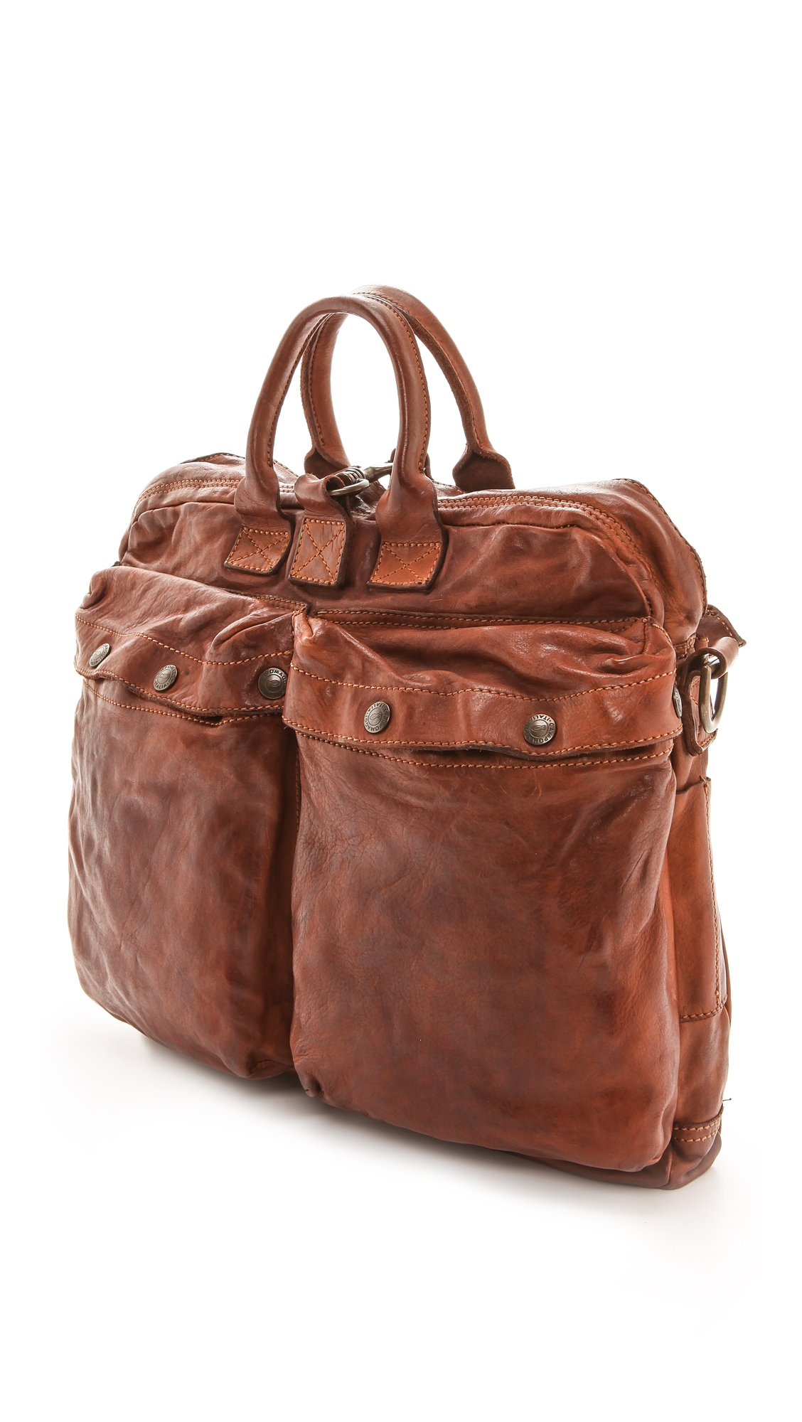 3e964309c456 Lyst - Campomaggi Washed Leather Messenger Bag - Cognac in Brown