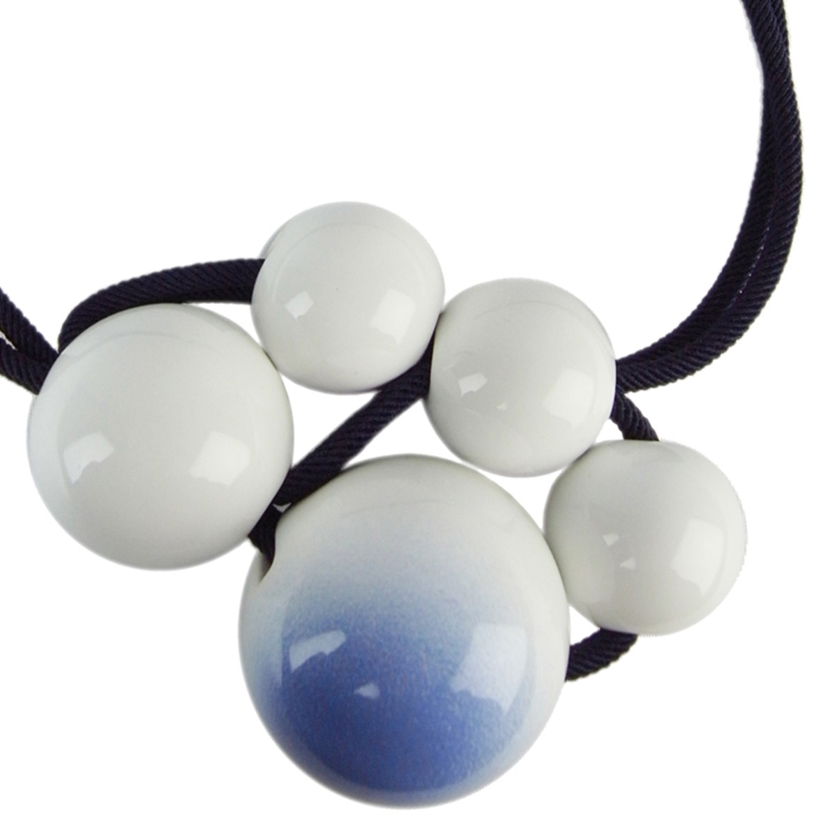 Lyst Marion Vidal White To Blue Gradation Necklace In White