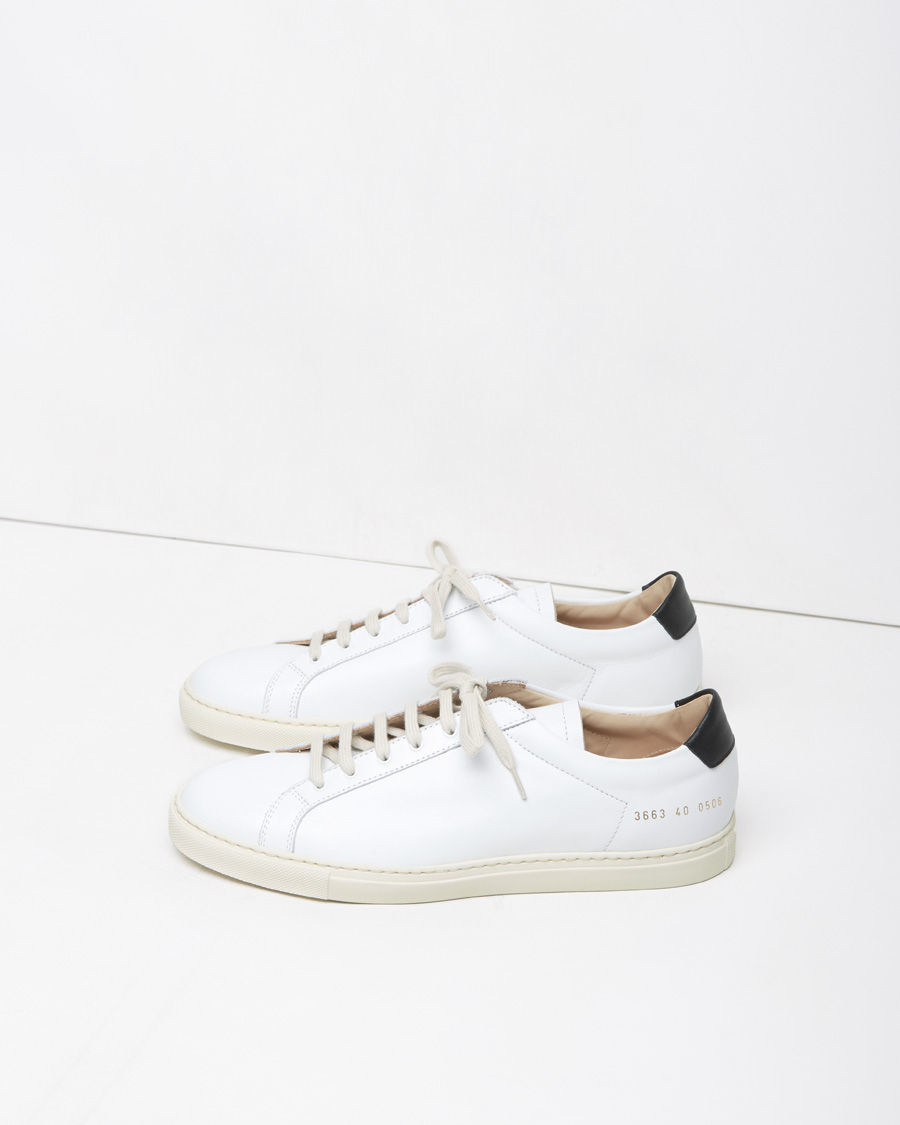 common projects retro achilles leather low top sneakers in white lyst. Black Bedroom Furniture Sets. Home Design Ideas