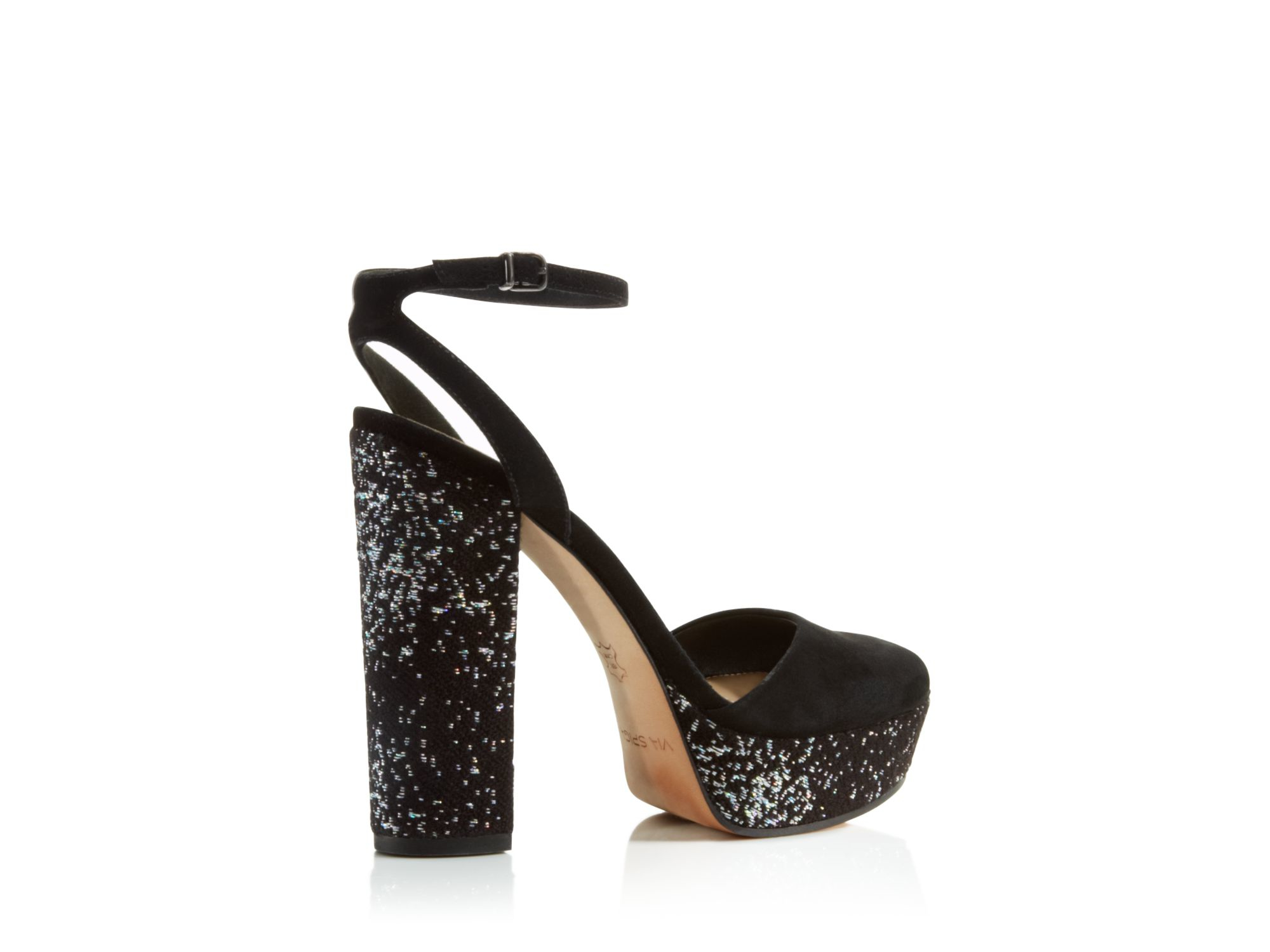 Via Spiga Varsha Platform High Heel Sandals In Black Lyst