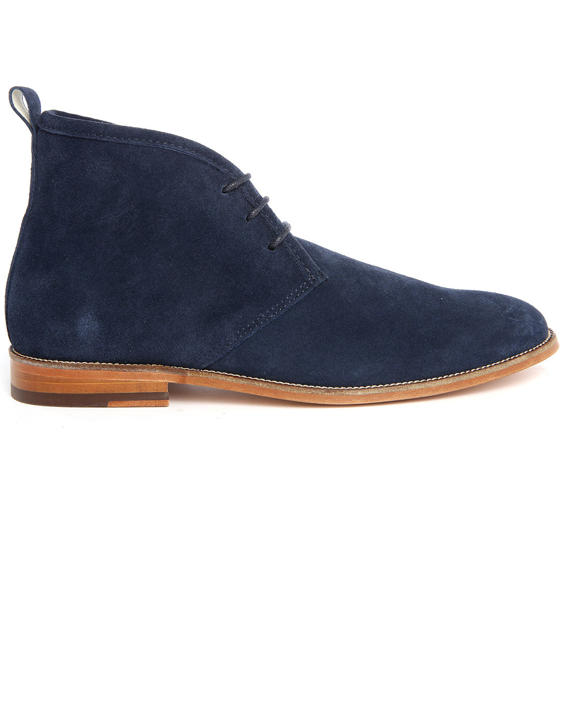 bobbies le monsieur navy suede desert boots in blue for