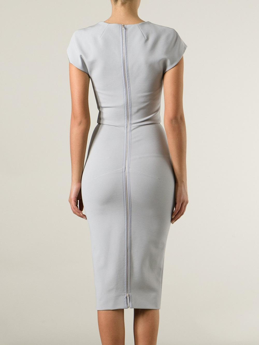 Victoria Beckham Grey Dresses