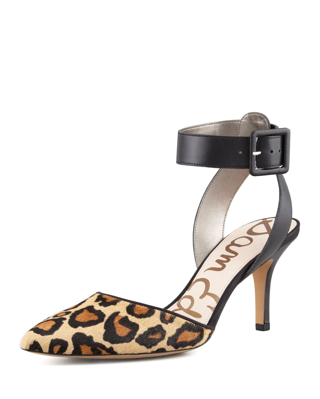016f111bd34d Lyst - Sam Edelman Okala Leopard-Print Pumps