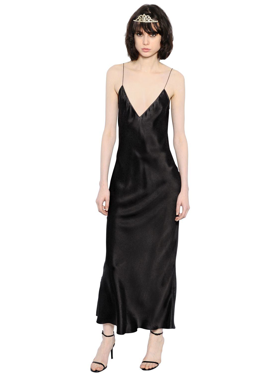 Satin Maxi Dresses for Women; Skip to page navigation. Filter (2) Satin Maxi Dresses for Women. Shop by Sleeve Length. Connie's Stretch Black Satin Halter Maxi Party Dress with accent ties S. $ Women's Vintage Costume Victorian Blue Satin Ruffle prom Maxi Ball Gown Dresses.