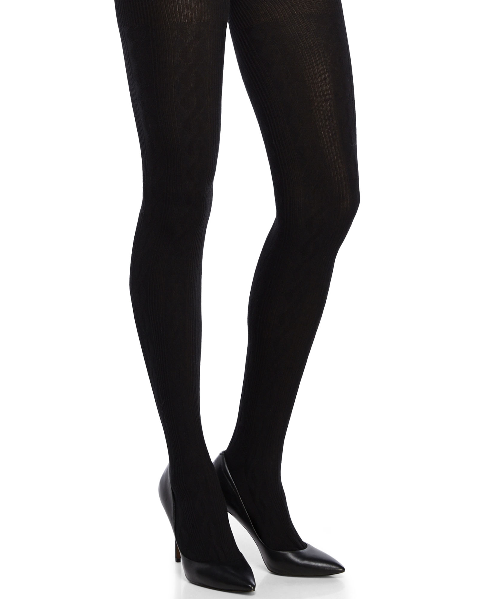 b3495837be654 Gallery. Previously sold at: Century 21 · Women's Black Tights Women's  Cable Knit Sweaters