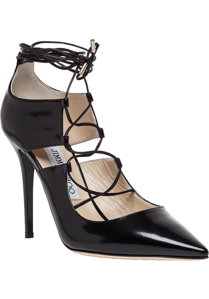 discount store sale professional Jimmy Choo Lace-Up Peep-Toe Boots outlet excellent clearance supply SMlJCPHs4