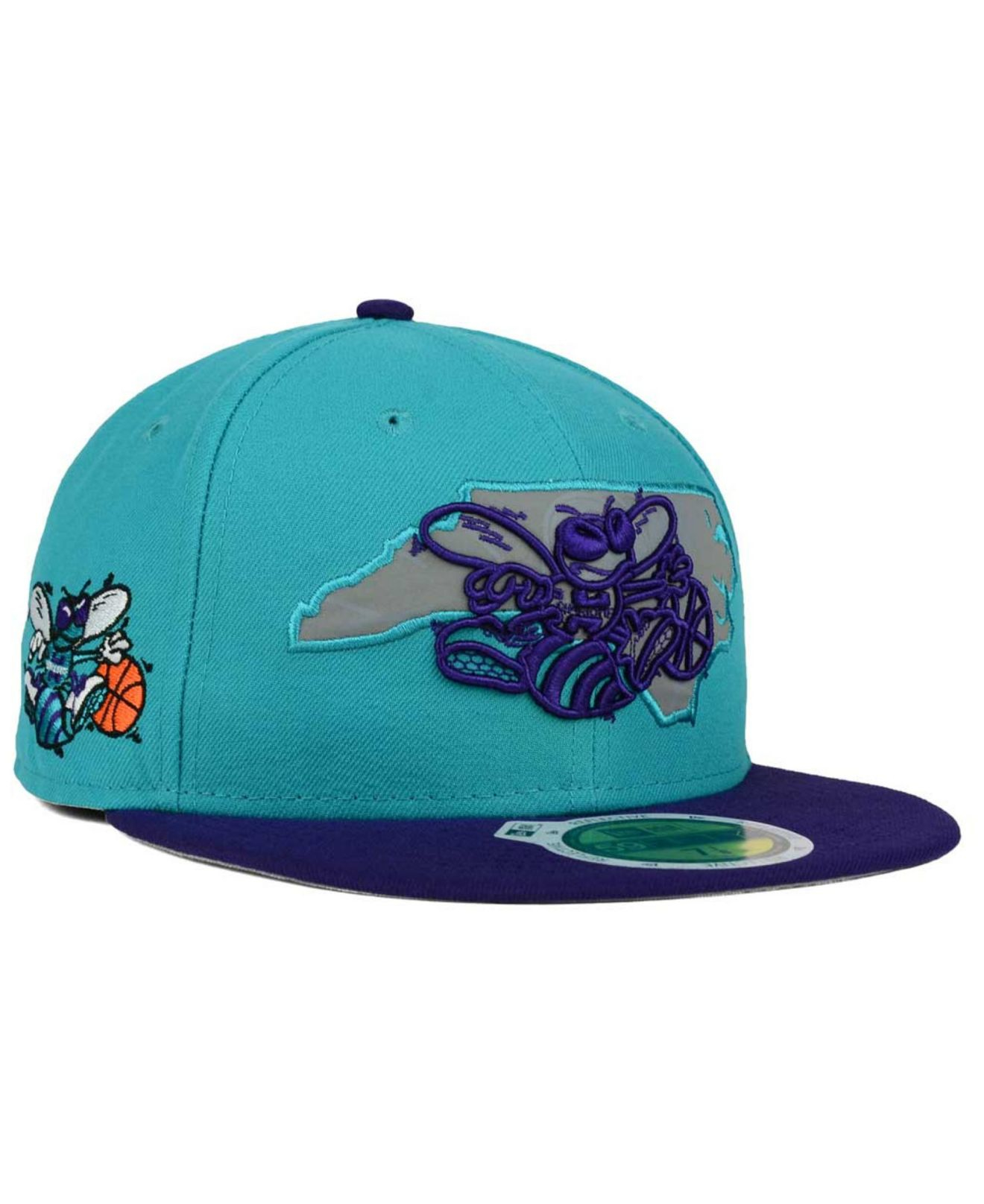 timeless design f9bd1 f2c86 ... promo code for lyst ktz charlotte hornets state reflective redux 59fifty  cap in 768bc 547a7