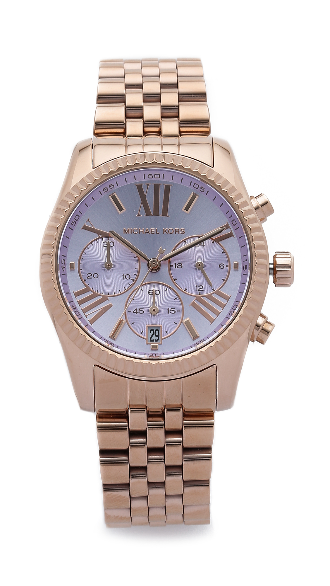 Michael Kors Rose Gold Watch With Roman Numerals