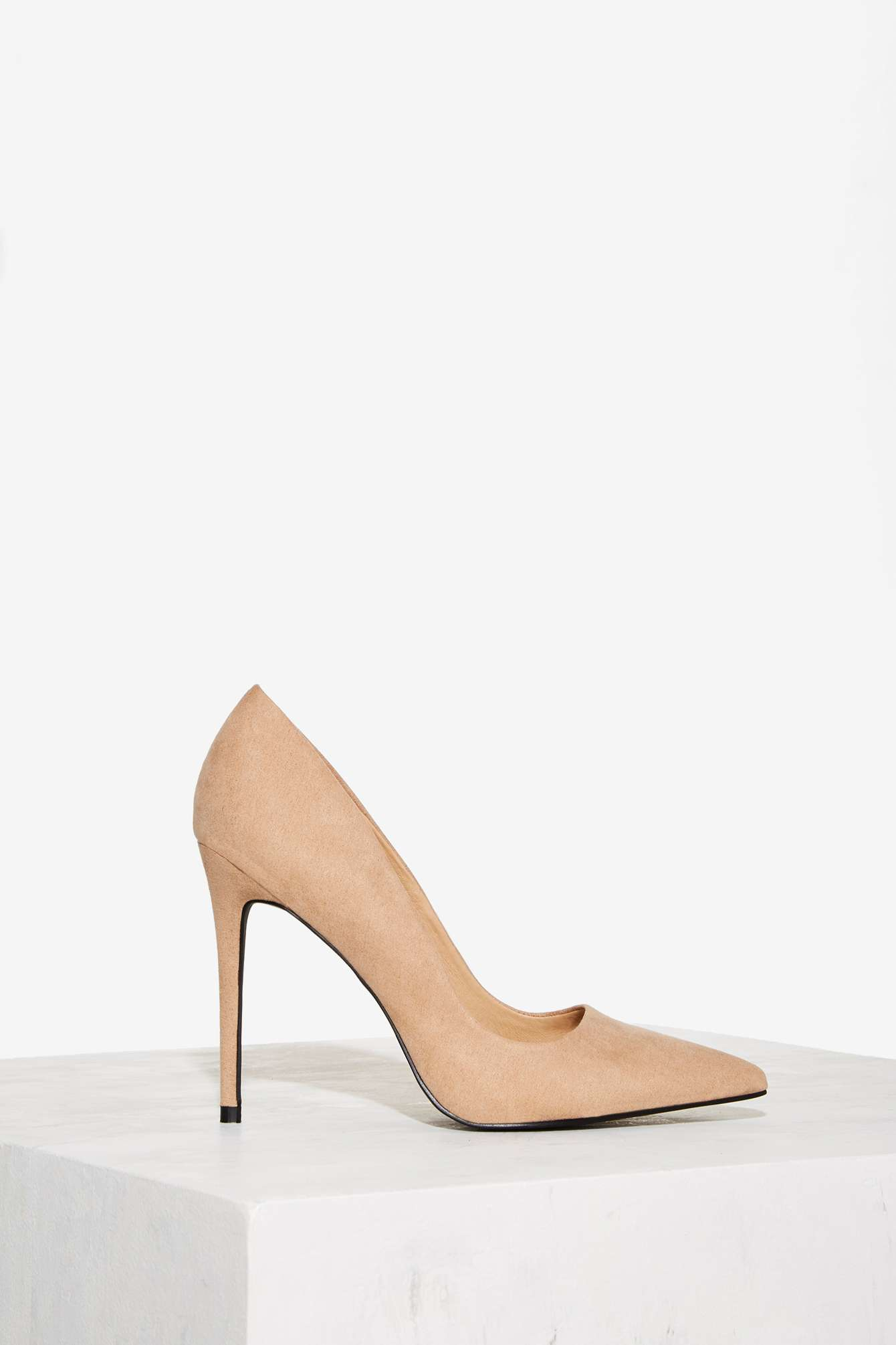 Nasty Gal Play It Cool Stiletto Pump - Nude In Natural  Lyst-3511