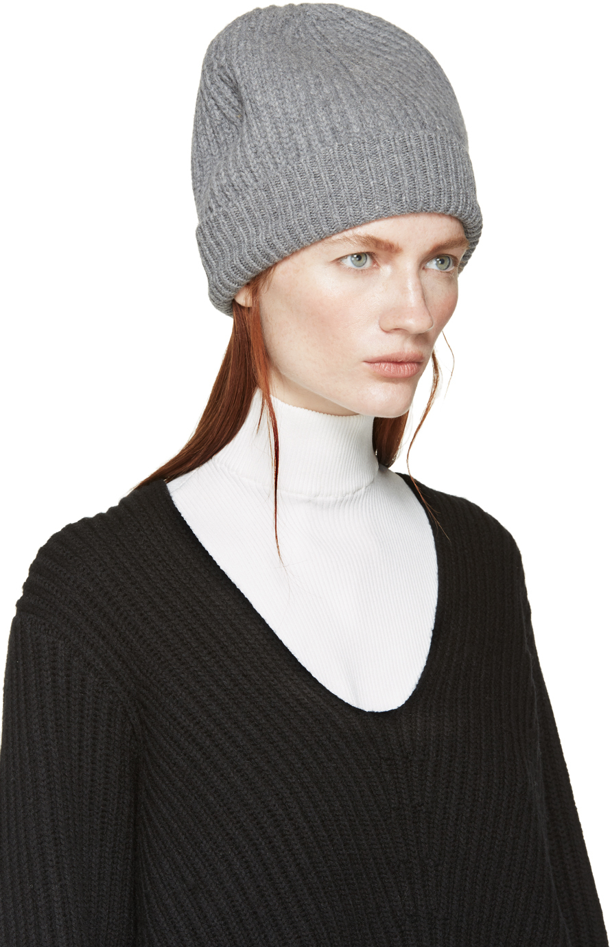 ce85e2d43e215 Acne Studios Grey Wool Canning Beanie in Gray - Lyst