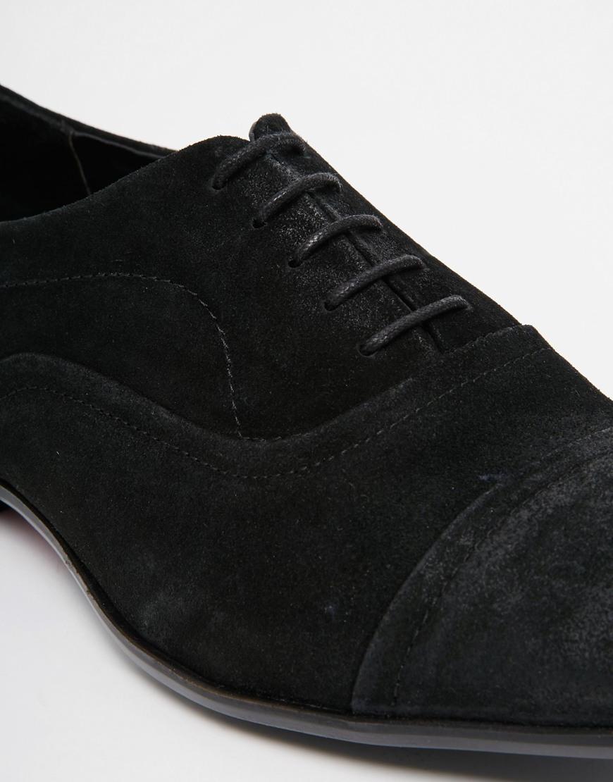 Black Suede Lace Up Oxfords