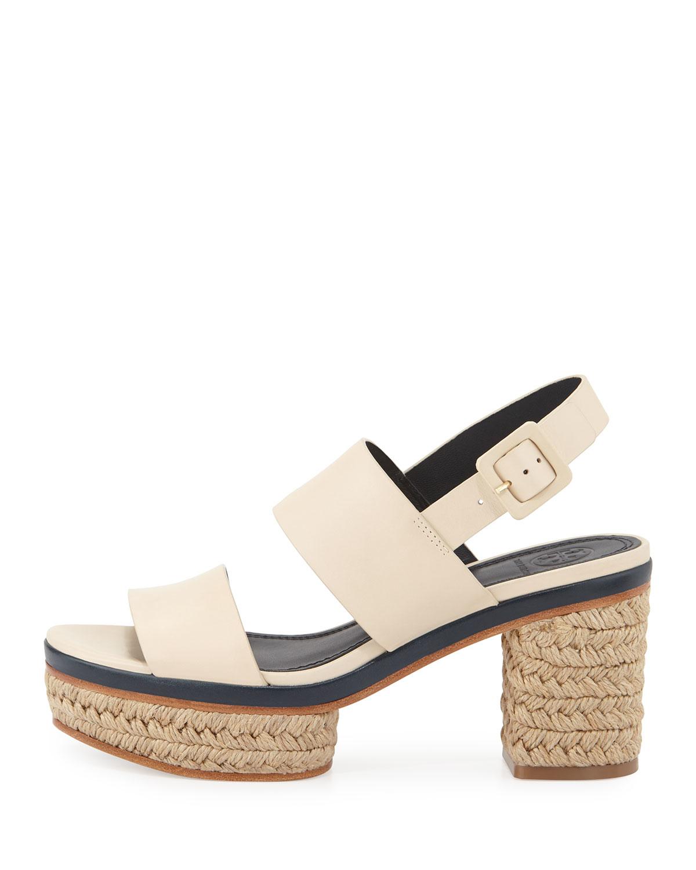 c9e42b37c2b2f Lyst - Tory Burch Solana Block-heel Espadrille Sandal in Natural