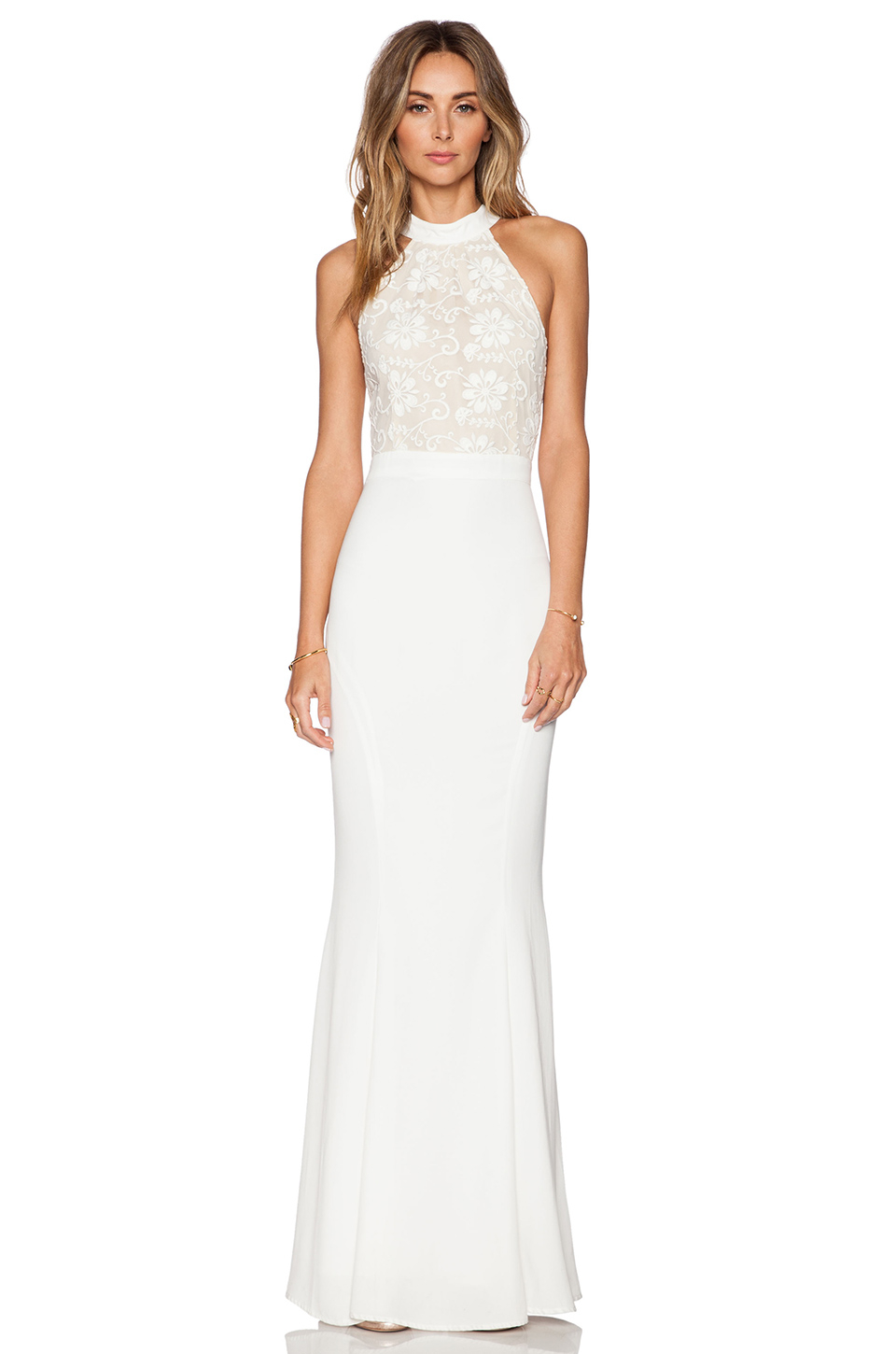 Lyst - Jarlo Lace Caden Maxi Dress in White