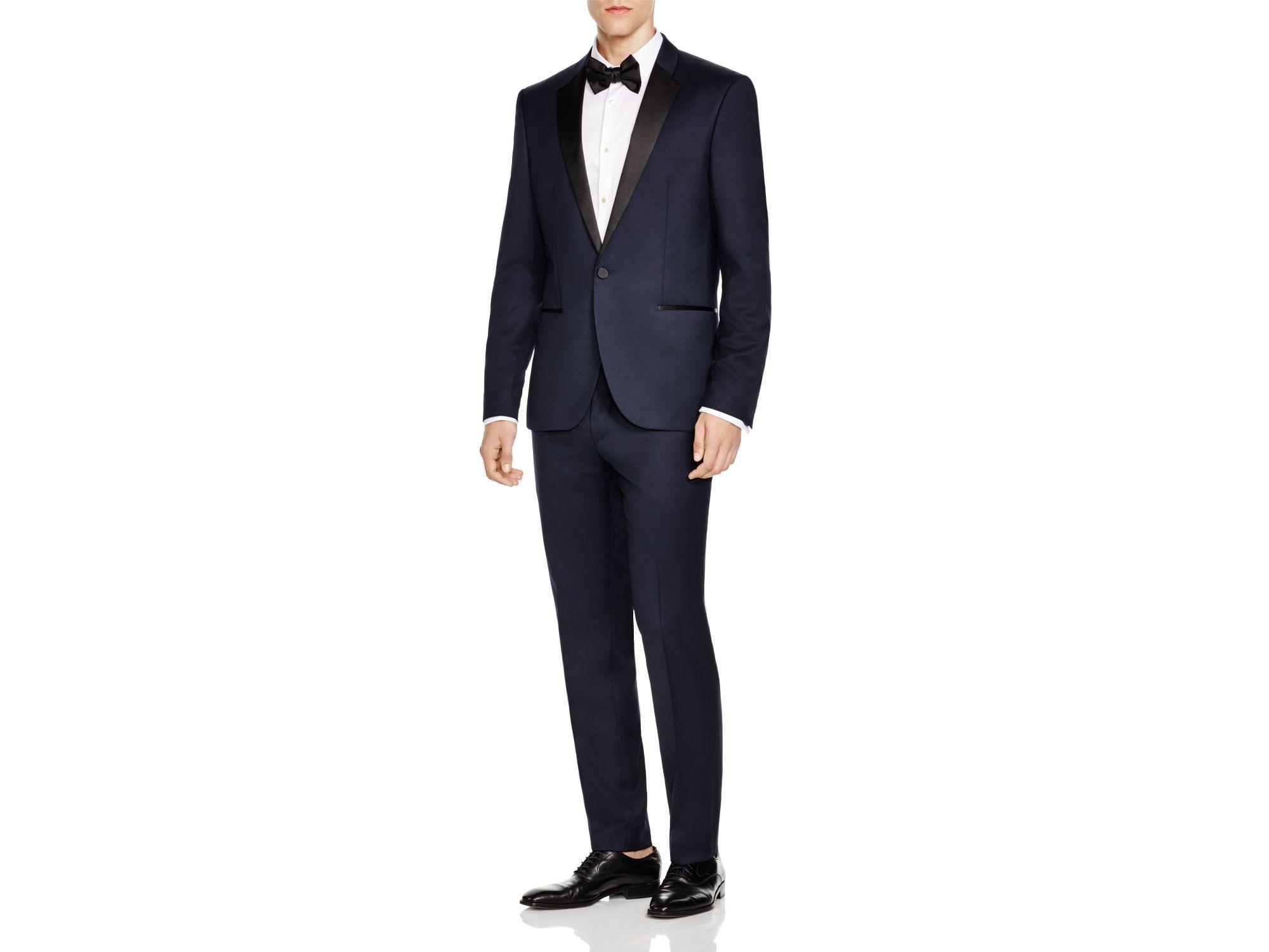 hugo boss navy hugo slim fit tuxedo jacket blue product 2 759175541. Black Bedroom Furniture Sets. Home Design Ideas