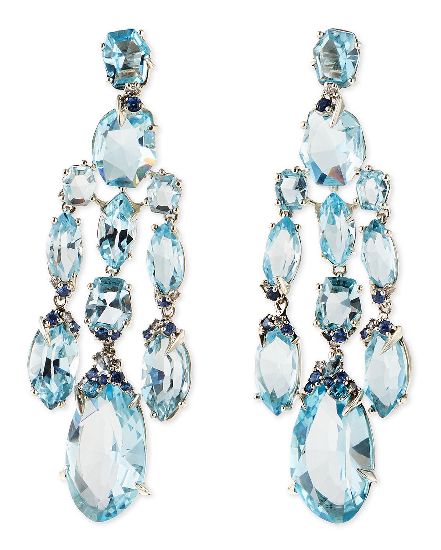 lyst alexis bittar fine blue topaz quartz sapphire. Black Bedroom Furniture Sets. Home Design Ideas
