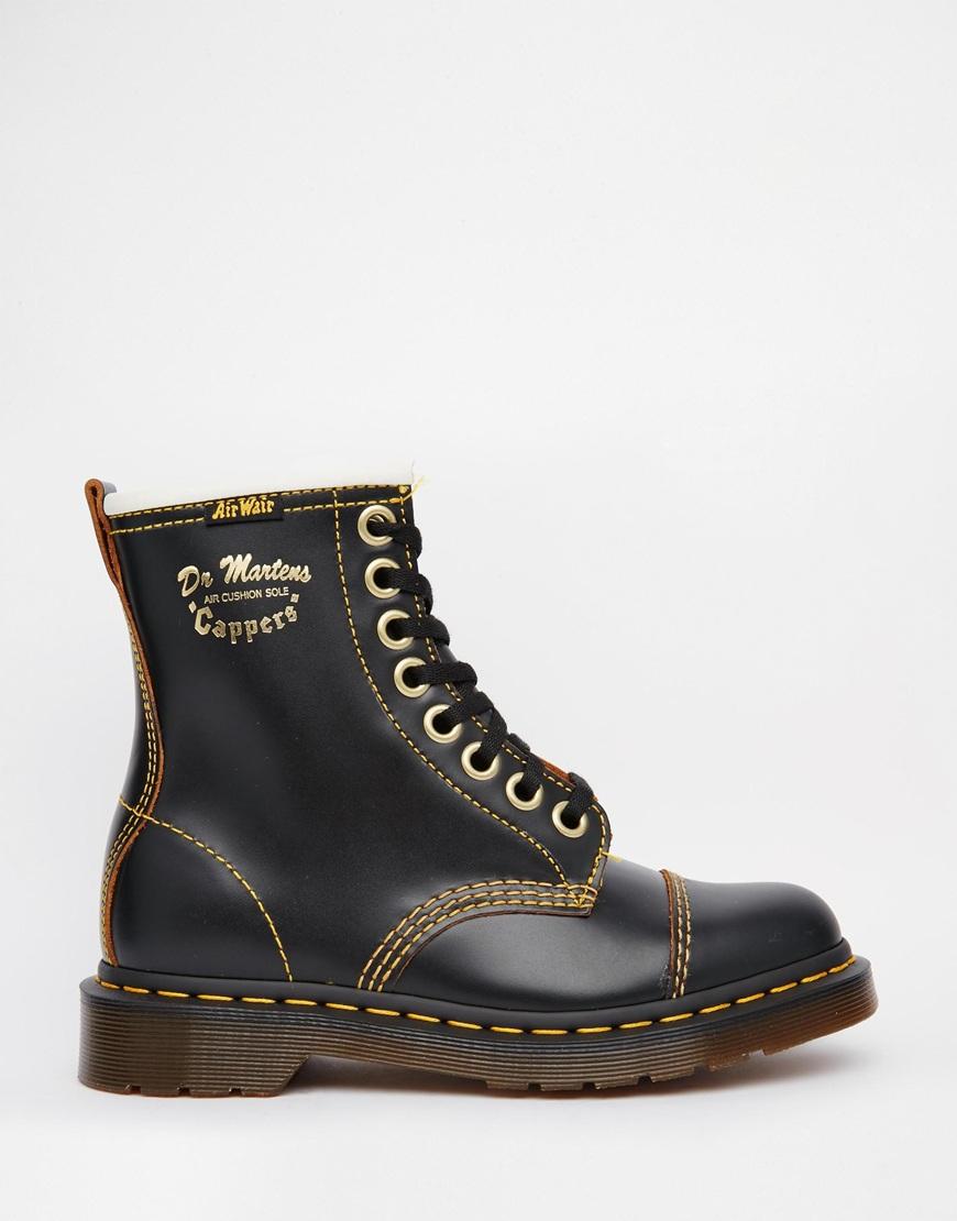 Dr Martens Black Suede Shoes